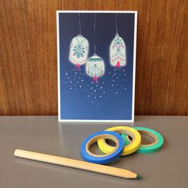 "Postkarte ""Lampions"""
