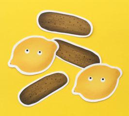 """Sticker """"Gurki und Zitrone"""""""
