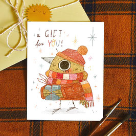 "Postkarte ""A Gift For You"""