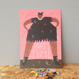 "Postkarte ""Party Time"""