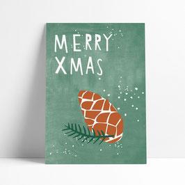 "Postkarte ""Merry Xmas"""