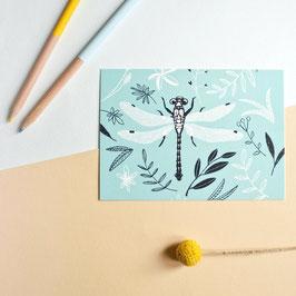 """Postkarte """"Libelle"""""""
