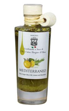Olivenöl Mediterraneo mit Rosmarin und Zitrone