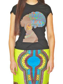 african empress woman t-shirt black