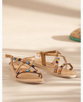 Azari Flat Leather Sandal Tribal