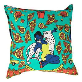 CUshion Covers 60 x 60 cm (WOMAN WITH PHONE TURQUOISE)