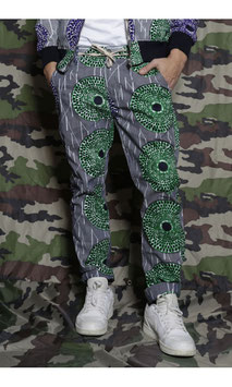unisex wax pants (green)