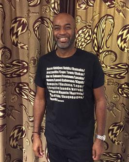T-shirt african city's black