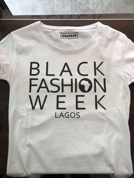 Black fashion week lagos t-shirt white