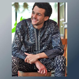 African fabric suit