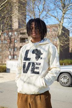 LOVE AFRICA HOODIE OFFWHITE