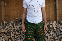 T-shirt africa continent / with brown outline