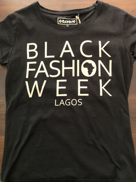 black fashion week lagos t-shirt black