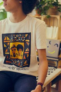 black pancakes monday music t-shirt white