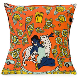 cushion Covers 60 x 60 cm (WOMAN WITH PHONE ORANGE)