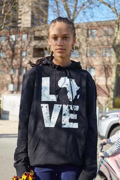 LOVE AFRICA HOODIE BLACK