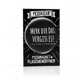 Pechmagnet + Flaschenöffner - Merk Dir das!