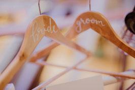 Kleiderbügel für Braut und Bräutigam