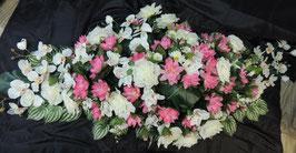 Dessus de cercueil orchidées et lotus