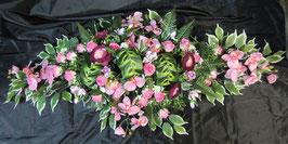 Dessus de cercueil orchidées et roses