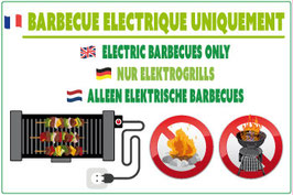 Barbecue électrique uniquement FR/AN/NL/ALL