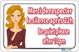Panneau Silence fr/an