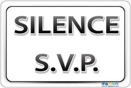 Panneau Silence texte