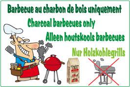 Panneau Barbecue charbon de bois FR/AN/NL/ALL