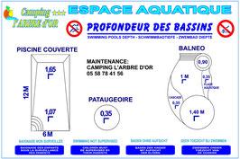 Profondeur des bassins / Coupe vue de haut