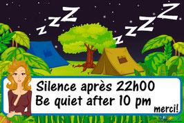 Panneau Silence camping