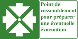 Point de rassemblement avec texte français
