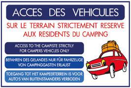 Panneau Accès des véhicules