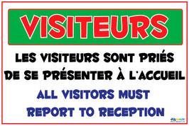 Panneau visiteurs
