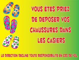 Chaussures interdites français