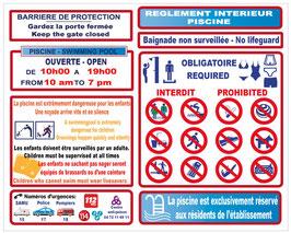 Règlement piscine établissement