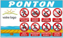 Panneau Interdictions ponton