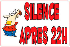 Panneau Silence cartoon