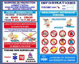 R glementation piscine jr signaletic panneaux campings for Reglementation securite piscine