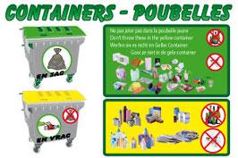 Containers poubelles avec images