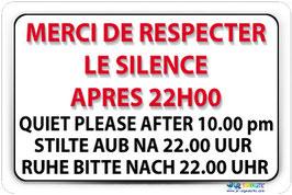 Panneau Silence