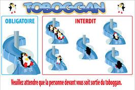Panneau règlement toboggan
