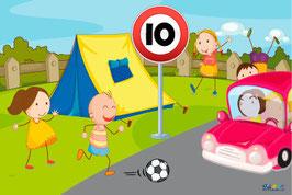 Panneau 10 camping