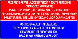 Propriété privée, port du bracelet