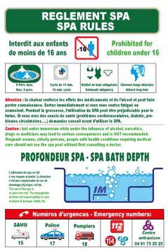 Règlement Spa en 2 langues
