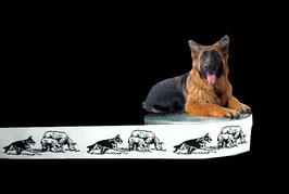 1m Deutscher Schäferhund & Schafe Webband Hund, 22mm breit