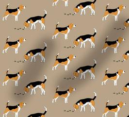 Beagle Hunde Stoff, Baumwoll-Jersey, viele Farben
