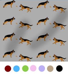 Schäferhund Hunde Stoff, Baumwoll-Jersey, viele Farben