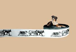 "1m ""Australian Shepherd & Rinder"" Webband Hund, 22mm breit"