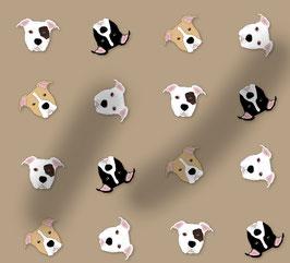 Pitbull / AmStaff Hunde Stoff, Baumwoll-Jersey, viele Farben