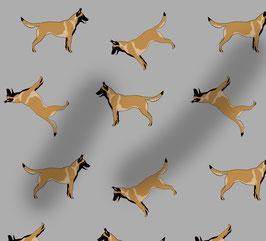 Malinois / Belgischer Schäferhund Hunde Stoff, Baumwoll-Jersey, viele Farben